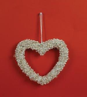 Καρδιά φελιζόλ με glitter 24εκ.