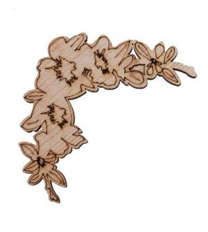 Γωνιακή μπορντούρα λουλούδι αγιουζ 75x75x3χιλ.