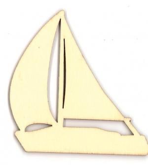 Καράβι ξύλινο 8x7,9x0,3εκ.