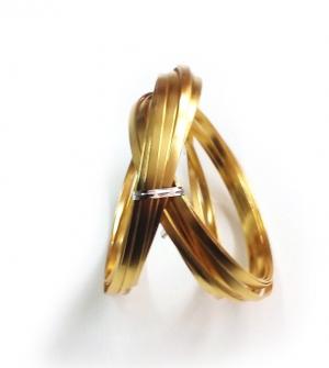 Σύρμα πλακέ 0,5cm 100gr. χρυσό