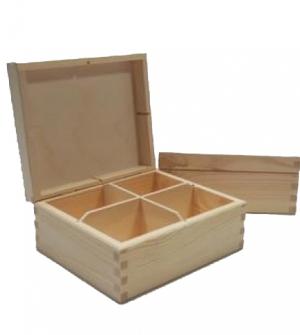 Ξύλινη κουτί με 4 θήκες 180x155x78cm