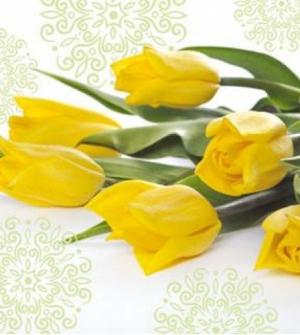 Χαρτοπετσέτα λουλούδια 20τεμ.