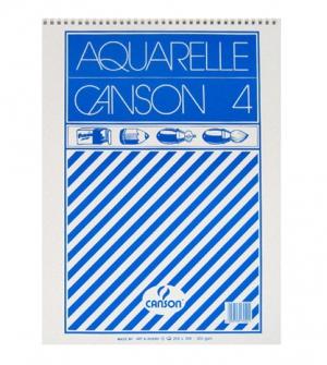 Μπλοκ ακουαρέλας Canson N4 12φύλλα 298x398mm 200gr.