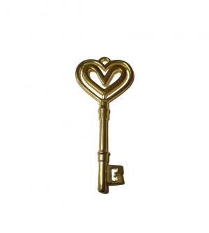 Κλειδί χρυσό με καρδούλες