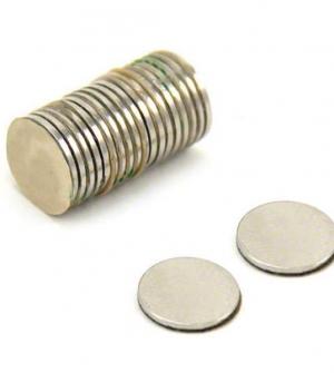 Μαγνήτης νίκελ, 10 τμχ, Ø10mmx2mm πάχος